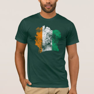 Bandeira afligida d'Ivoire de Côte Camiseta