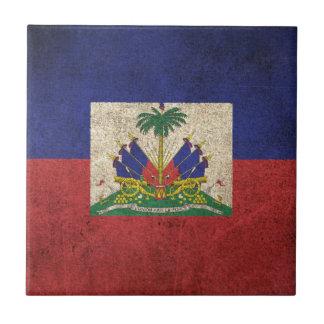 Bandeira afligida vintage de Haiti