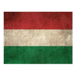 Bandeira afligida vintage de Hungria Cartão Postal