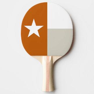 Bandeira alaranjada de Texas Raquete De Ping Pong