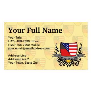 Bandeira Alemão-Americana do protetor Cartao De Visita