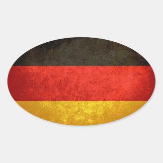 Bandeira alemão adesivos em formato oval