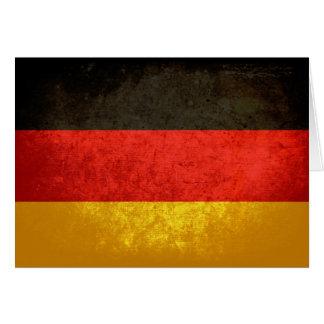 Bandeira alemão cartão de nota