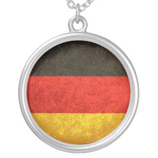 Bandeira alemão colar com pendente redondo
