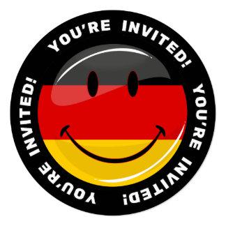Bandeira alemão de sorriso convite quadrado 13.35 x 13.35cm