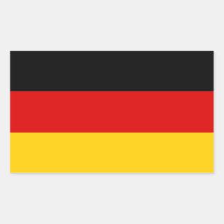 Bandeira alemão patriótica adesivo retangular