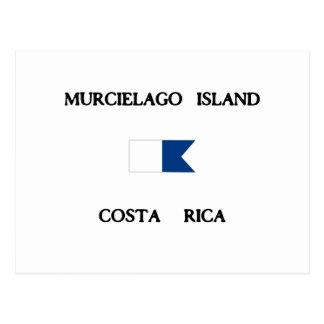 Bandeira alfa do mergulho de Costa Rica da ilha de Cartoes Postais