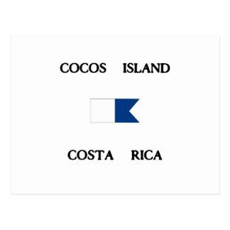Bandeira alfa do mergulho de Costa Rica da ilha de Cartão Postal