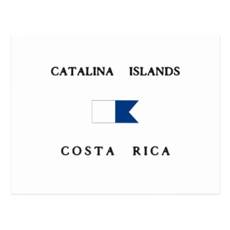 Bandeira alfa do mergulho de Costa Rica das ilhas Cartão Postal