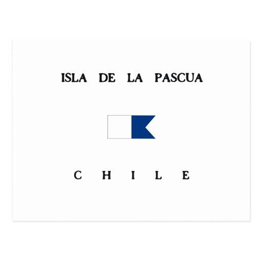 Bandeira alfa do mergulho de Isla de la Pascua o Cartões Postais