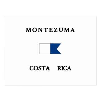 Bandeira alfa do mergulho de Montezuma Costa Rica Cartão Postal