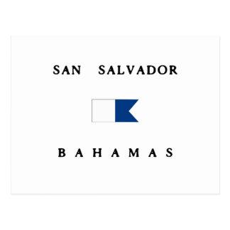 Bandeira alfa do mergulho de San Salvador Bahamas