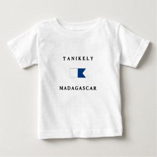 Bandeira alfa do mergulho de Tanikely Madagascar T-shirt