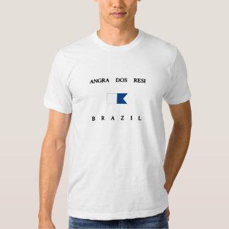 Bandeira alfa do mergulho do Dos Resi Brasil de T-shirts