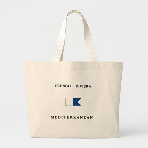 Bandeira alfa francesa do mergulho de Riviera Bolsas Para Compras