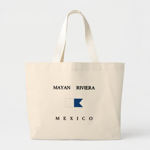 Bandeira alfa maia do mergulho de Riviera México Bolsas De Lona