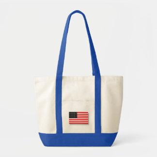 Bandeira americana 3D. Bolsa De Lona