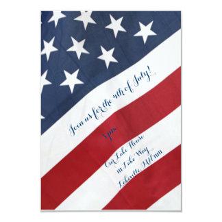Bandeira americana 4o do convite de julho