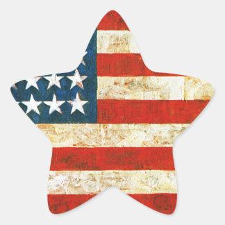 Bandeira americana adesivo estrela