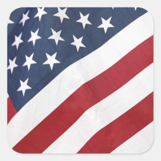 Bandeira americana adesivo quadrado