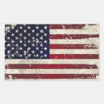Bandeira americana adesivo retângular