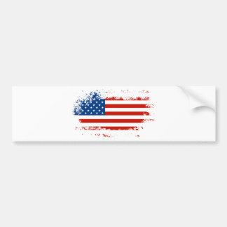 Bandeira americana afligida adesivo para carro