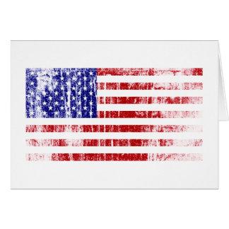 Bandeira americana afligida cartão