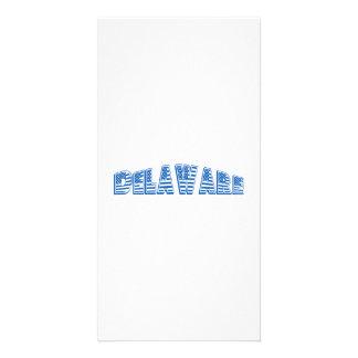 Bandeira americana azul Delaware Cartao Com Fotos Personalizado