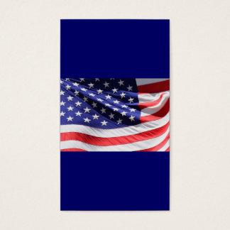 Bandeira americana branca e azul vermelha cartão de visitas