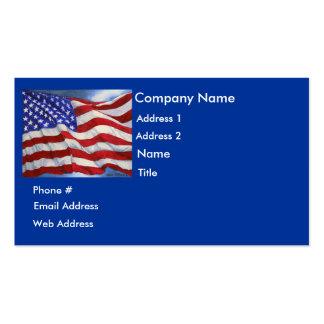 Bandeira americana - cartão de visita
