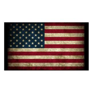 Bandeira americana cartão de visita