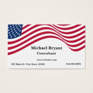 Bandeira americana cartão de visitas