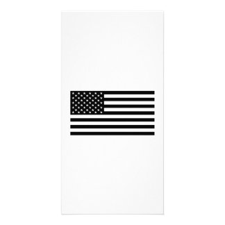 Bandeira americana cartao com foto personalizado