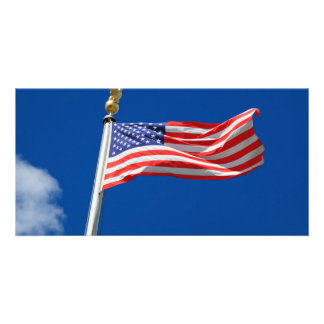 Bandeira americana cartoes com foto