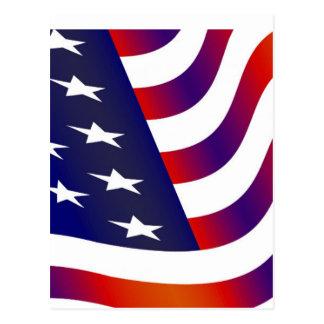Bandeira americana cartão postal