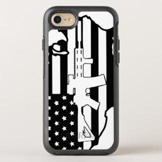Bandeira americana com otterbox da arma da AR Capa Para iPhone 7 OtterBox Symmetry