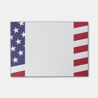Bandeira americana - comemore os EUA - 4 de julho Post-it Notes