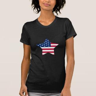 Bandeira americana da estrela dos EUA Tshirt