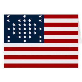 Bandeira americana da guerra civil de Sumter do fo Cartao