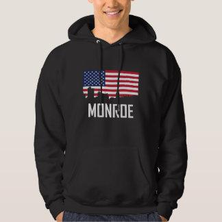 Bandeira americana da skyline de Monroe Louisiana Moletom