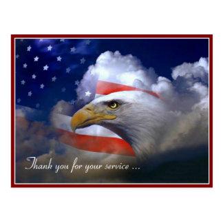Bandeira americana de dia de veteranos e cartão de