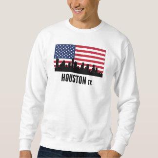 Bandeira americana de Houston TX Moletom