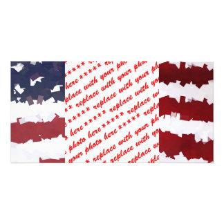 Bandeira americana de papel de Mache Cartões Com Fotos Personalizados