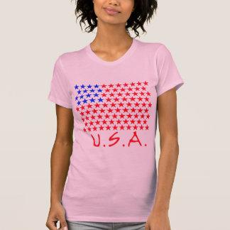 Bandeira americana de produtos das estrelas t-shirts