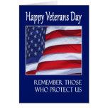 Bandeira americana do cartão feliz do dia de veter