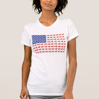 Bandeira americana do Dachshund dos EUA Tshirts