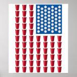 Bandeira americana do jogo do bebendo de Pong da c