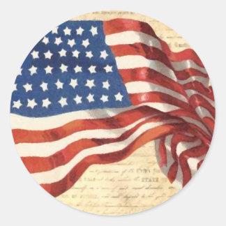 Bandeira americana do vintage adesivo