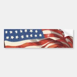 Bandeira americana do vintage adesivo para carro