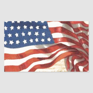 Bandeira americana do vintage adesivo retangular